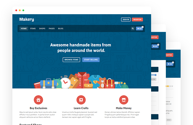 Makery – Marketplace WordPress Theme