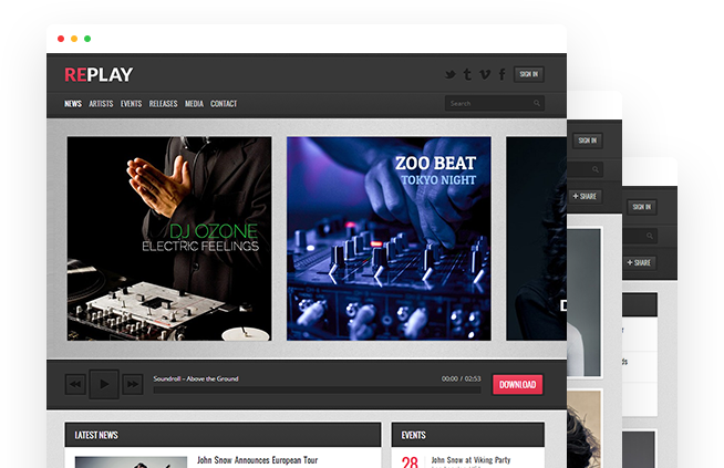 Replay – Music WordPress Theme
